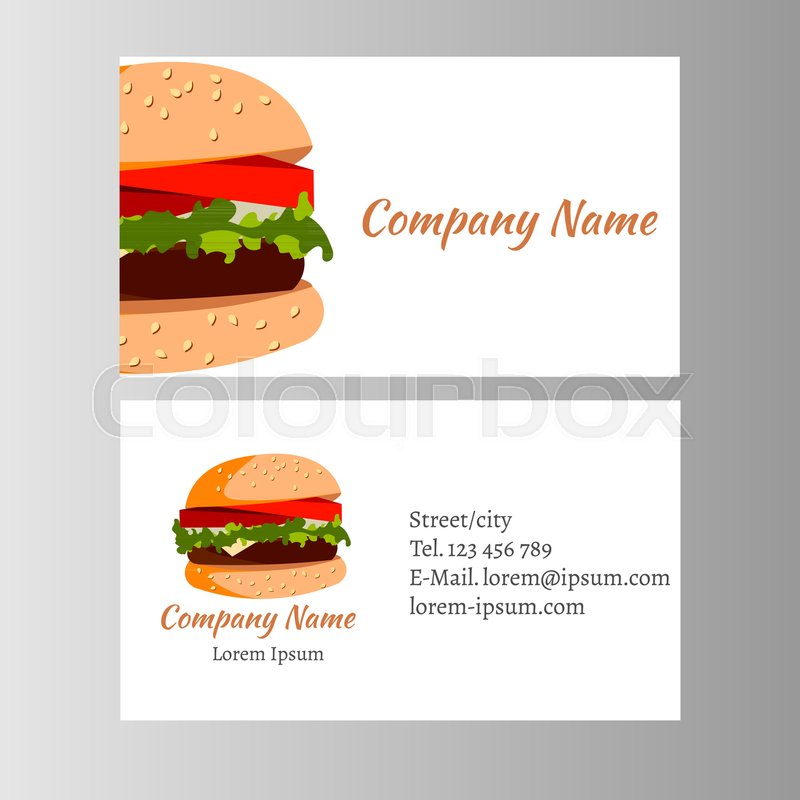 burger business card template for