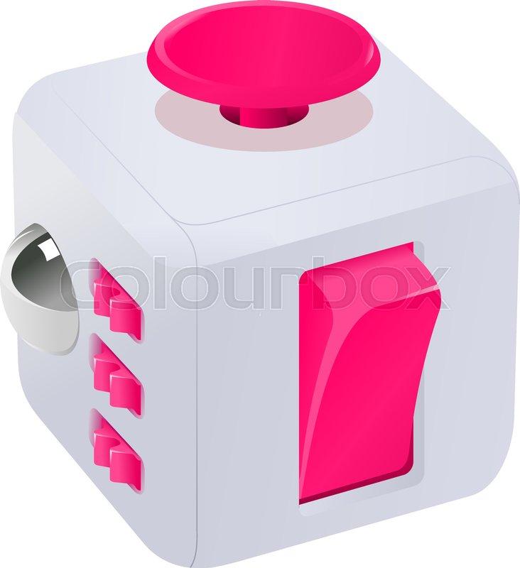 Fidget Cube Vector Illustration Fidget Cube Tricks Badges Labels