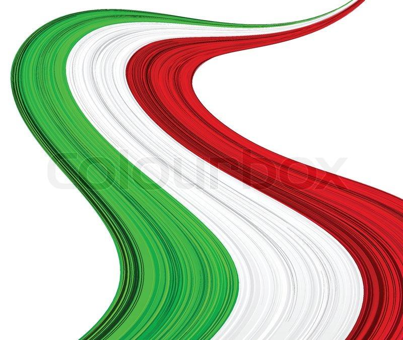 vektorillustration der nationalen italienischen flagge