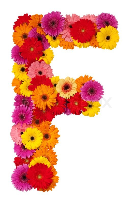 Letter f flower alphabet isolated on white background stock letter f flower alphabet isolated on white background stock photo colourbox altavistaventures Choice Image