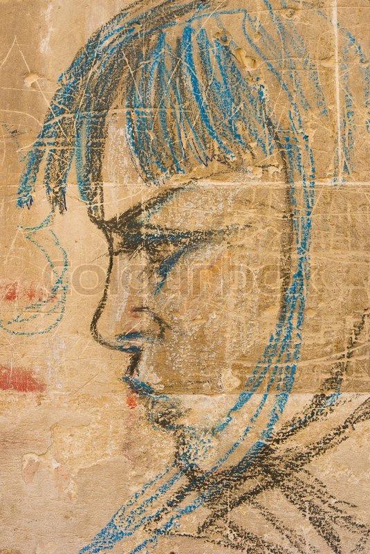 lecce italien graffiti tegning af pige september 10 nice en unge piger star pa vag i byerne puglia stock foto klimatabelle