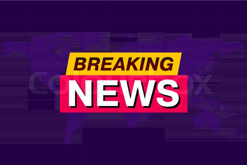 Breaking news tv screen saver vector background with world map breaking news tv screen saver vector background with world map technology news background vector gumiabroncs Image collections