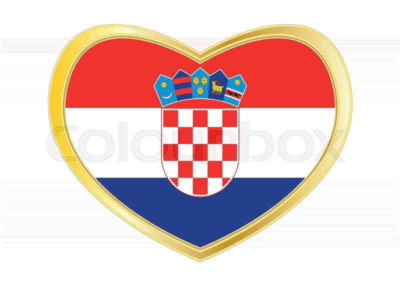 Croatian National Official Flag Patriotic Symbol Banner Element