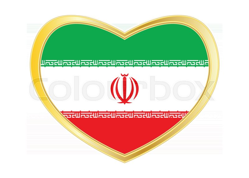 Iranian National Official Flag Islamic Republic Of Iran Patriotic