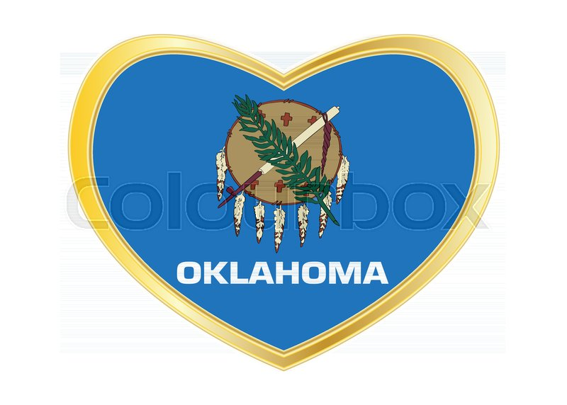 Flag Of The Us State Of Oklahoma American Patriotic Element Usa