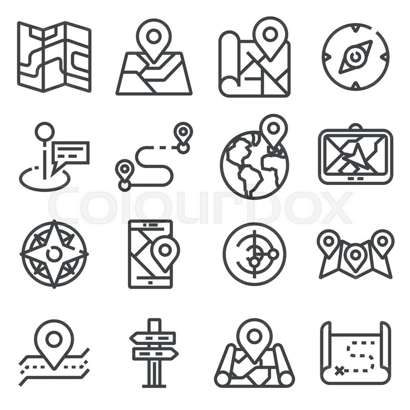 Map Icons And Location Icons With