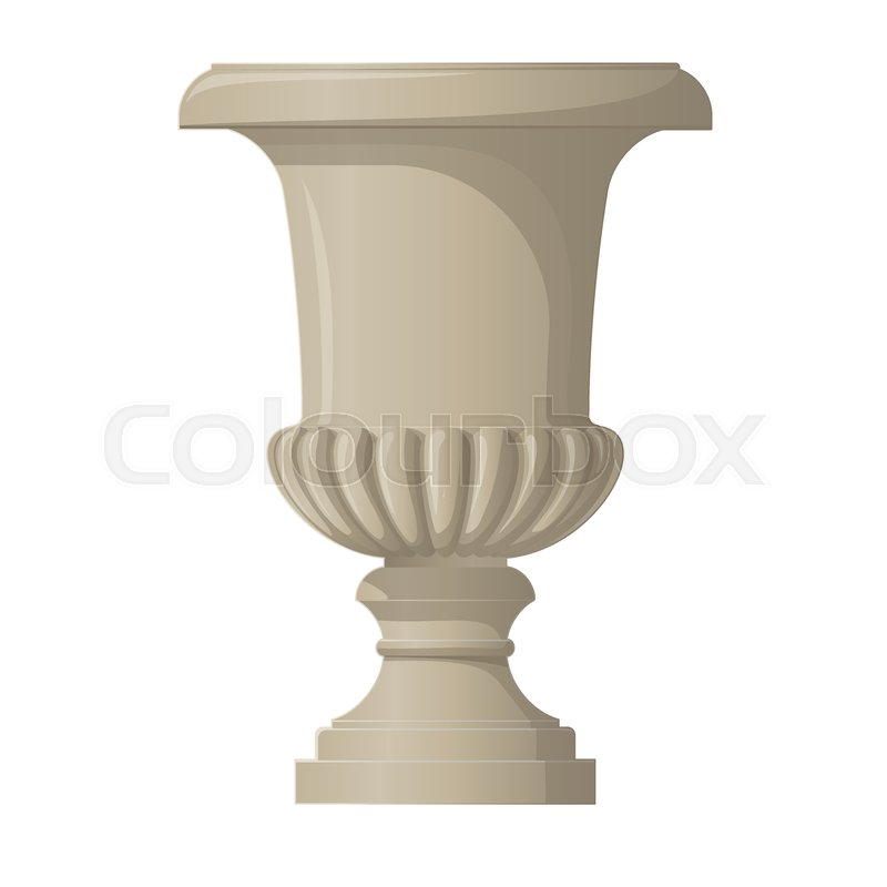 Classic Style Decorative Vase Urn Planter From Sandstone Stock
