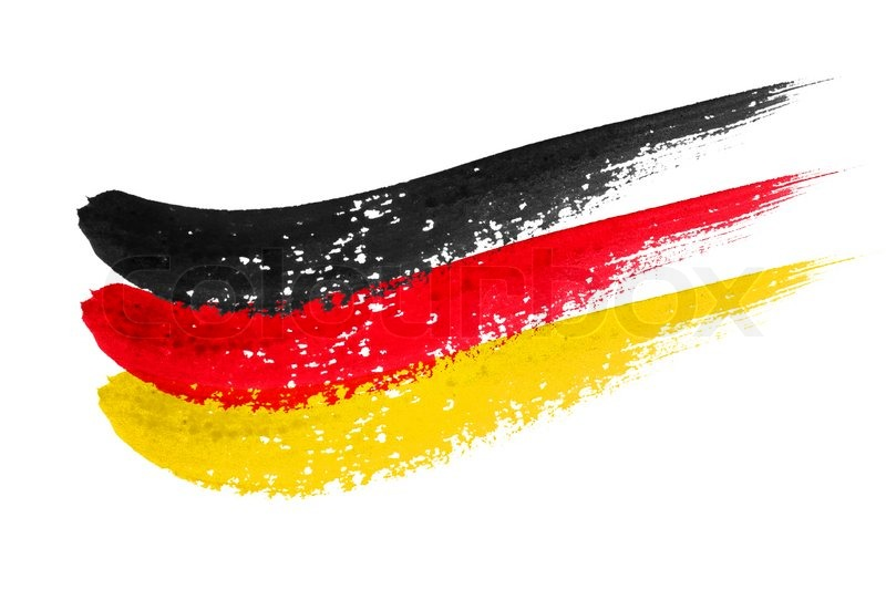 brushstroke flag germany stock photo colourbox