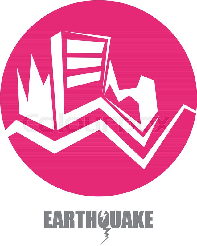 Vector Earthquake Insurance Icon With Damaged House Isolated On