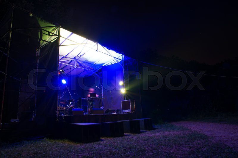 A DJ On Small Stage