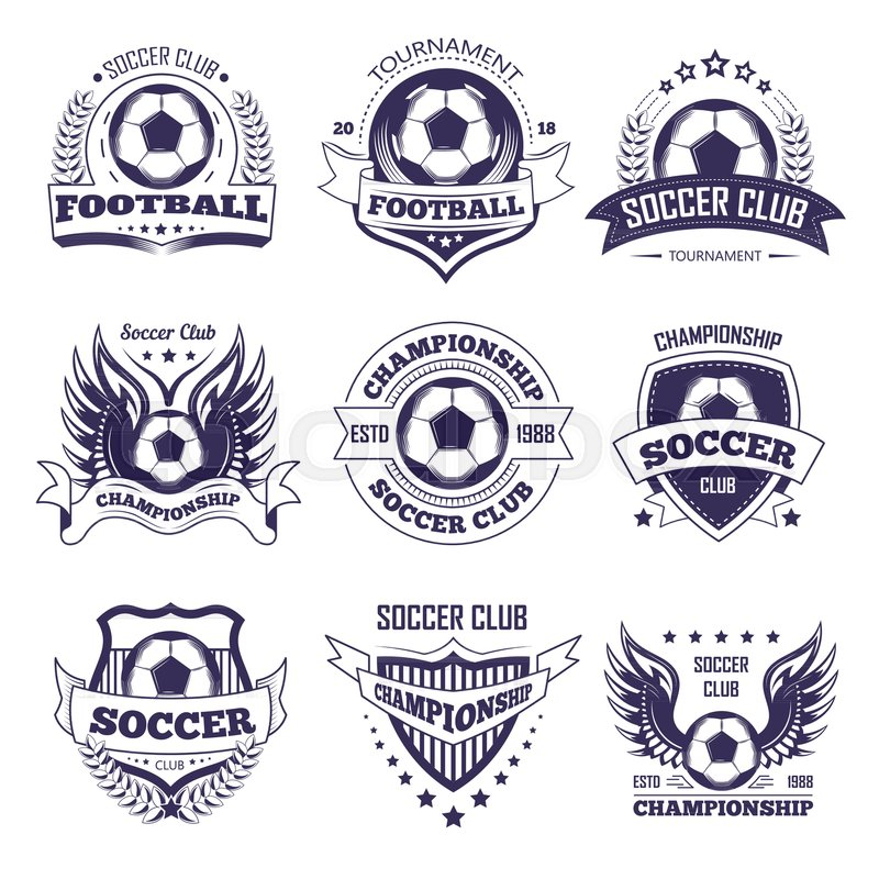 Soccer Club Or Football League Championship Cup Logo Templates