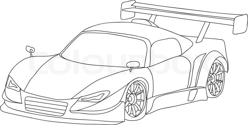 Vector Sport Car Isolated On Background Vector 2967364 on fast car illustration