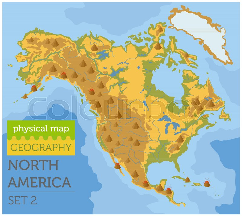 North America physical map elements. ... | Stock vector ... on map making, map breakdown, typographic elements, map of baltimore and surrounding cities, map icons, map numbers, map symbols, map essentials, map people, map skills, map of maryland, body elements, map data, map scale, map tools, programming elements, user interface elements, miscellaneous elements, cartographic design, task elements, map key, map vintage, software elements, reference elements, map of speech, map pieces, map of arizona high schools, map of montana indian reservations, topic elements,