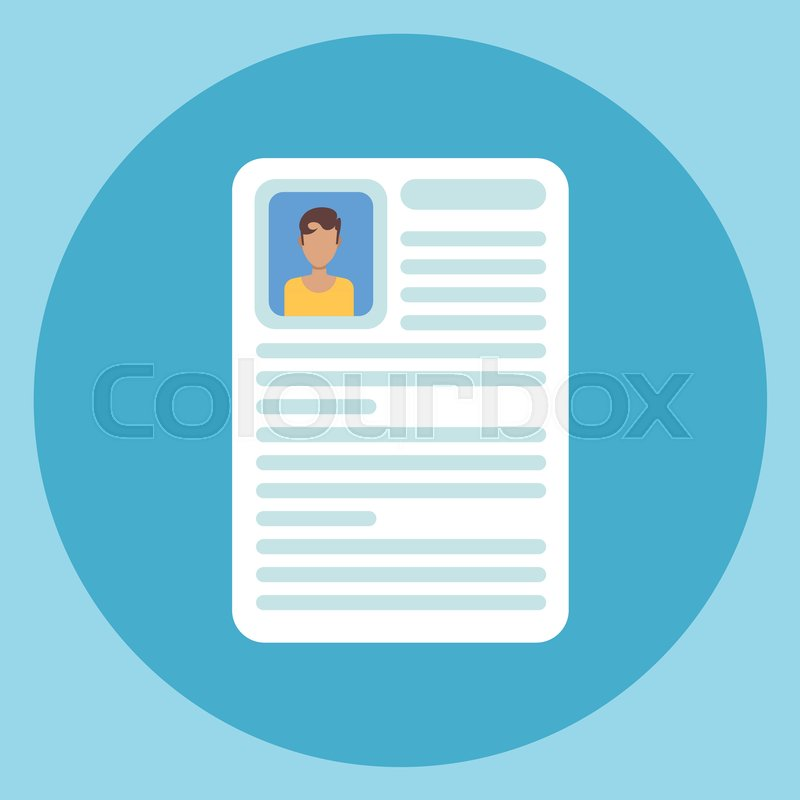 cv resume icon application form document flat vector illustration stock vector colourbox