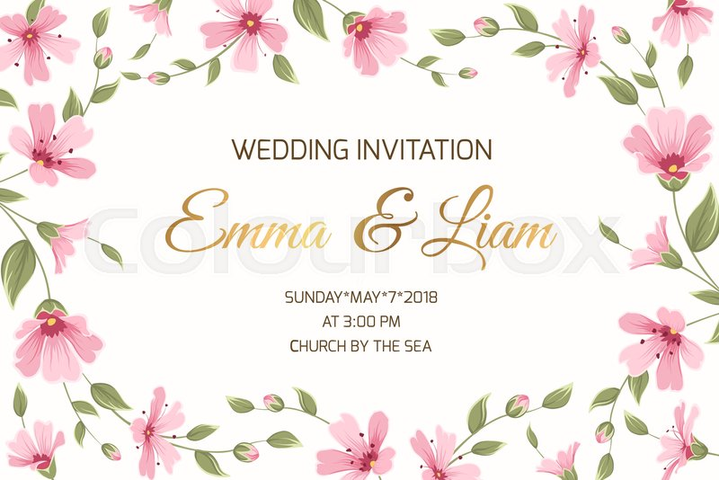 wedding marriage event invitation card template gypsophila babys