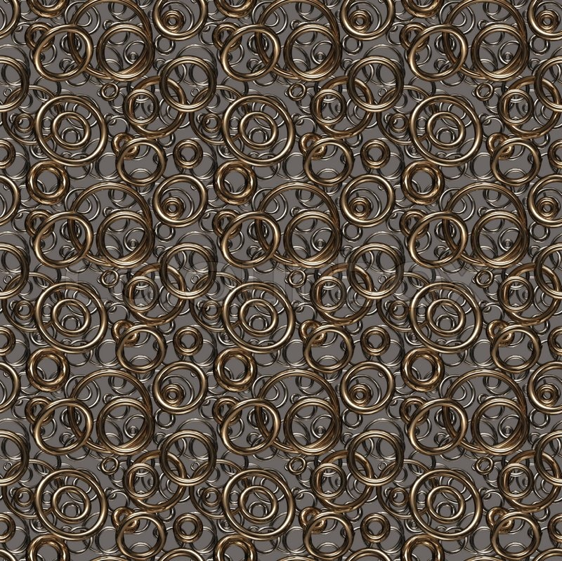 Seamless Texture Background Made Of Golden And Silver