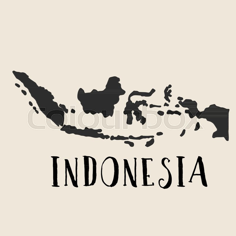Doodle Freehand map sketch of Indonesia Vector