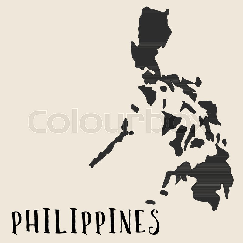 Philippine Map Sketch Doodle Freehand map sketch of  | Stock vector | Colourbox