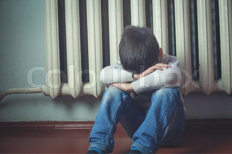 sad boy stock photo colourbox
