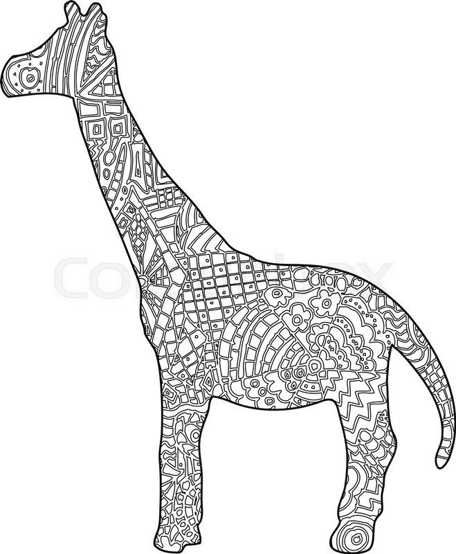Giraffe Coloring book illustration | Stock Vector | Colourbox
