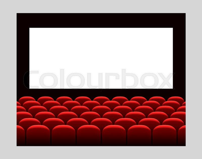 Cinema Movie Premiere Poster Design Stock Vector Colourbox