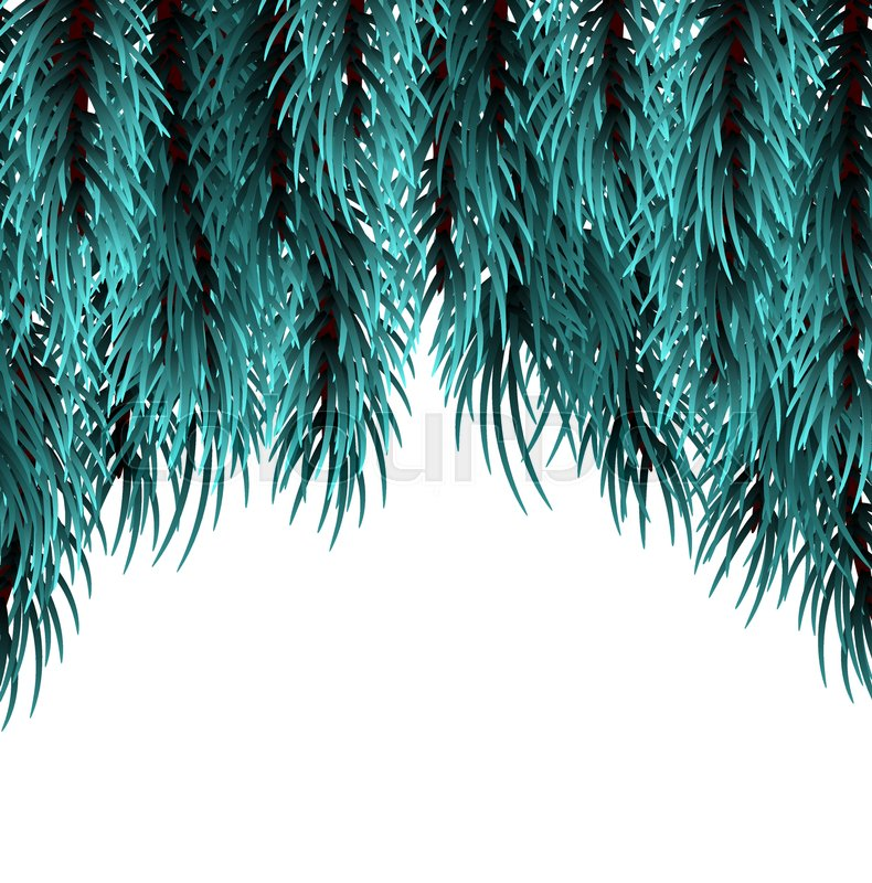 isolated fir banner background happy new year poster frame