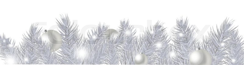 silver new year garland isolated on white background vector illustration stock vector colourbox