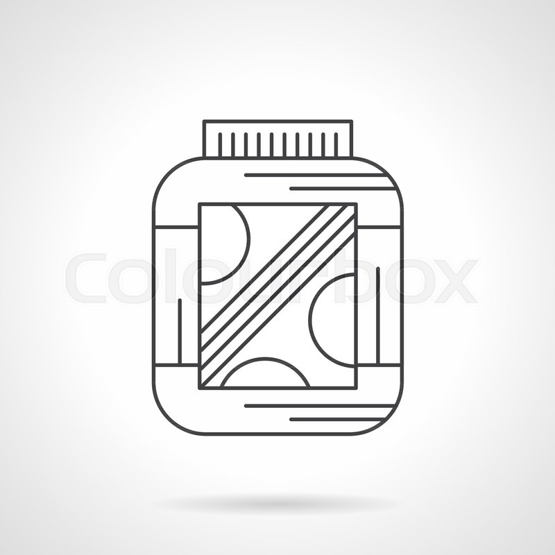 Symbol Of Jar With Amino Protein Supplements Sport Nutrition For