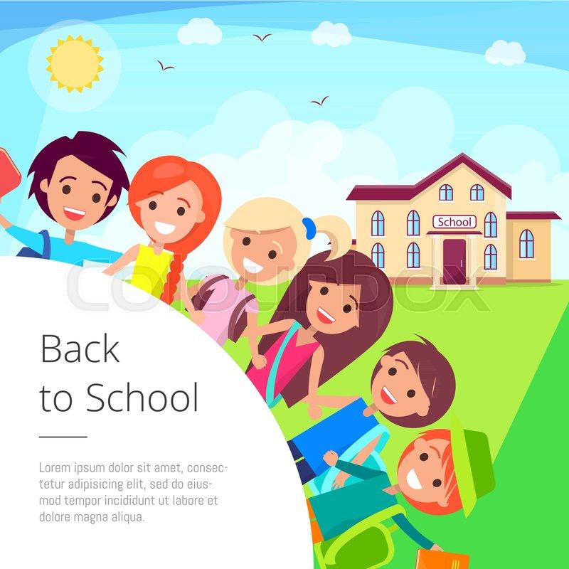 Back To School Cartoon Vector Stock Vector Colourbox