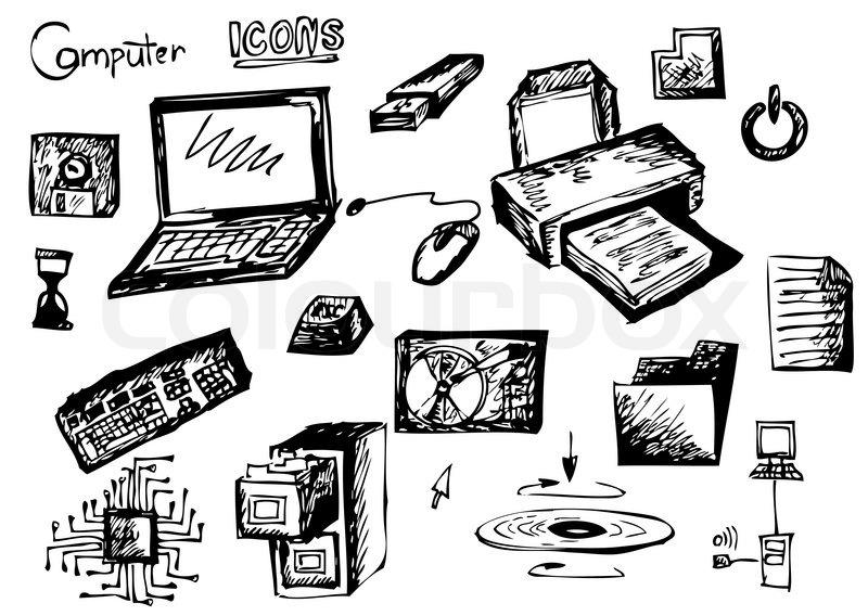 computer symbole auf dem wei u00dfen