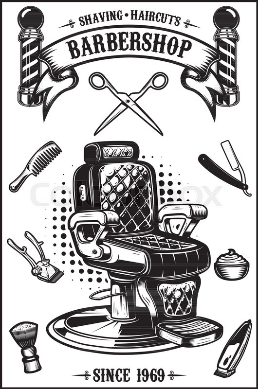 Hair Cutting Tools Drawing 57