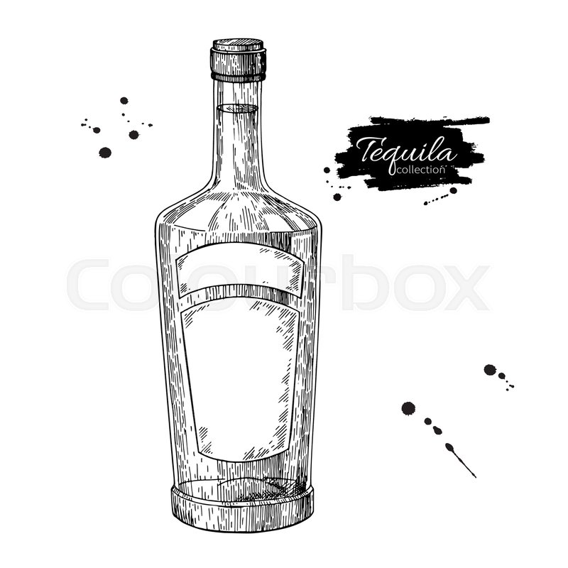 This is a graphic of Unusual Drawing Of Bottle