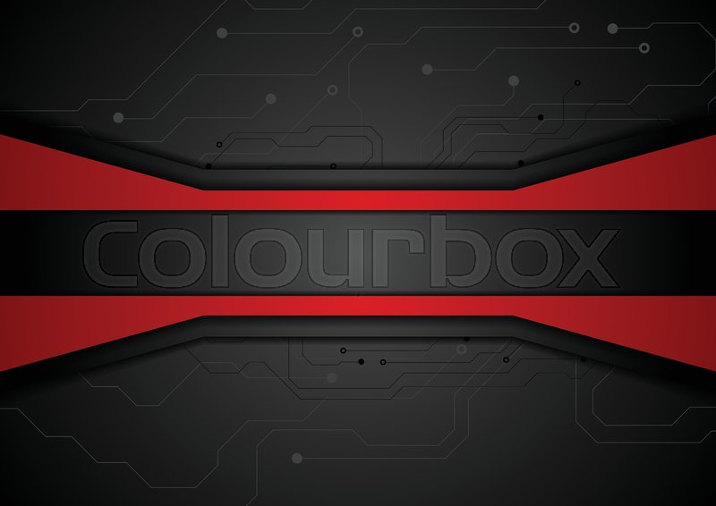 Circuit Board On Black Background Royalty Free Stock Photography