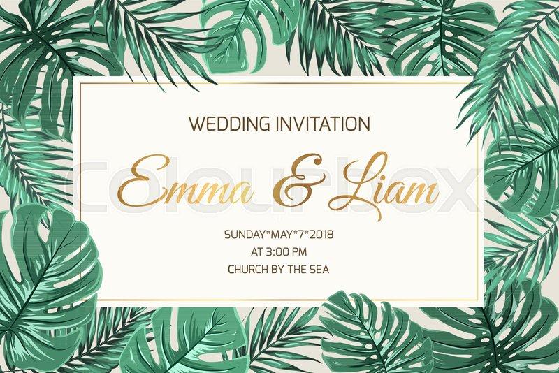 Wedding Marriage Event Invitation Card Stock Vector