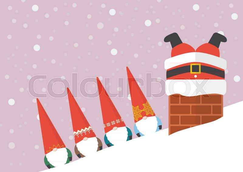 santa stuck in the chimney coloring page printable pages