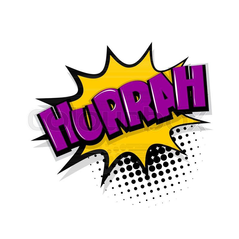 Free Comic Book Day Banner: Hurrah, Scream. Comic Text Speech ...