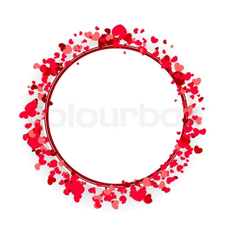 retro border valentines love design mock up material soft template