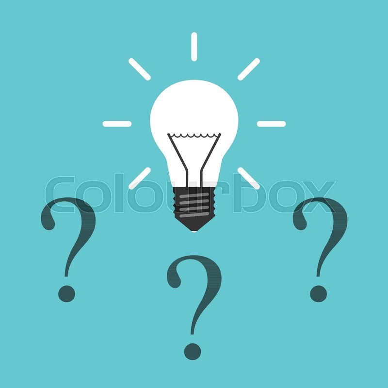 Problem Solution Inspiration And Innovation Concept Flat Design Vector Illustration No Transparency Gradients