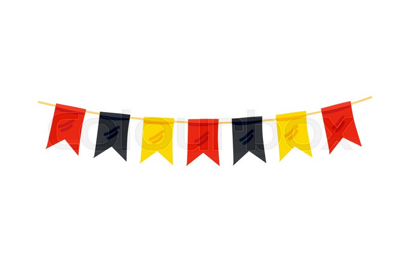 colorful flag in color of german flag decoration for oktoberfest