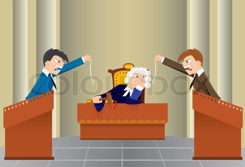 Cartoon Judicial Sitting Stock Vector Colourbox
