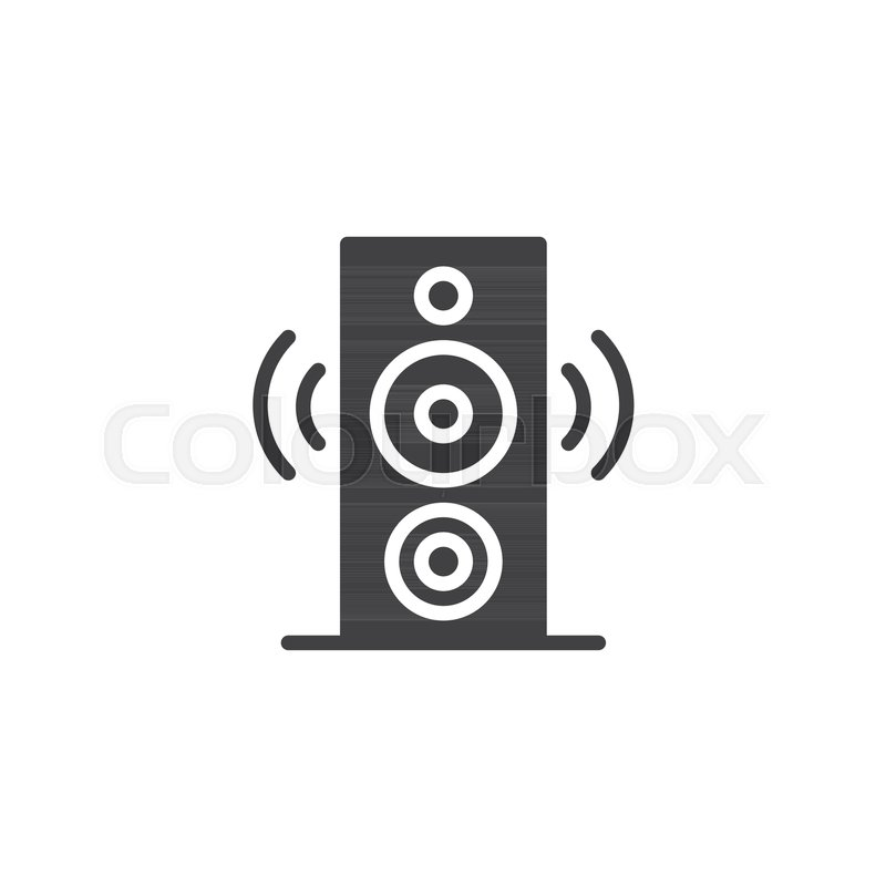 Speaker icon vector, filled flat sign, solid pictogram isolated on ...