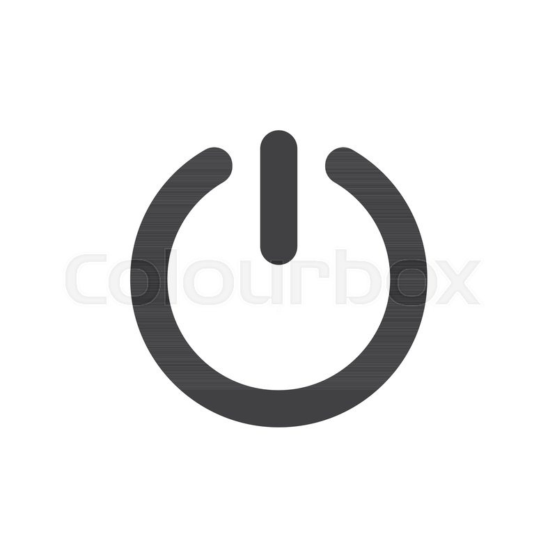 Start power button icon vector, filled flat sign, solid pictogram ...