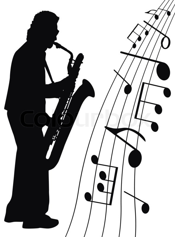 Musician And Music Symbols On White Background Stock Photo Colourbox