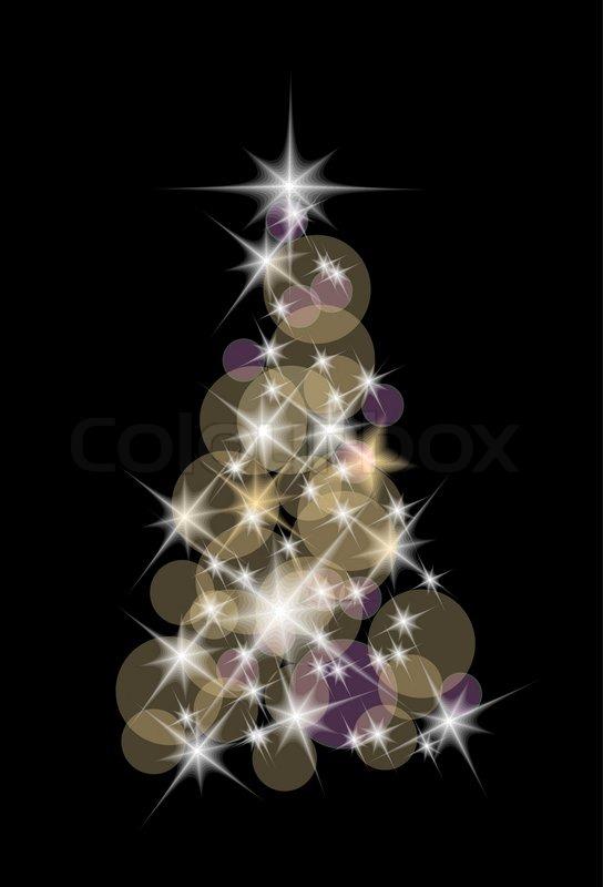 Nice Christmas Tree nice christmas tree with the lights on the dark background | stock