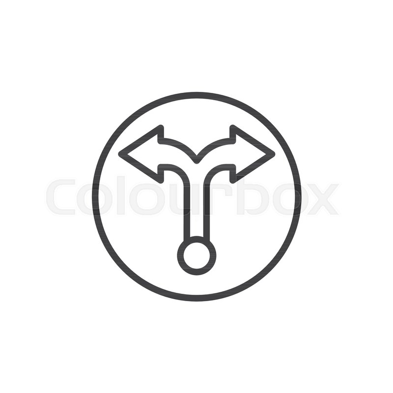 Two Way Arrows Line Icon Outline Vector Sign Linear Style