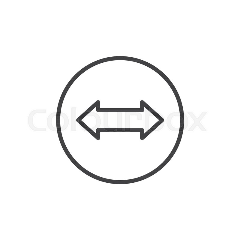 Left And Right Arrow Line Icon Outline Vector Sign Linear Style
