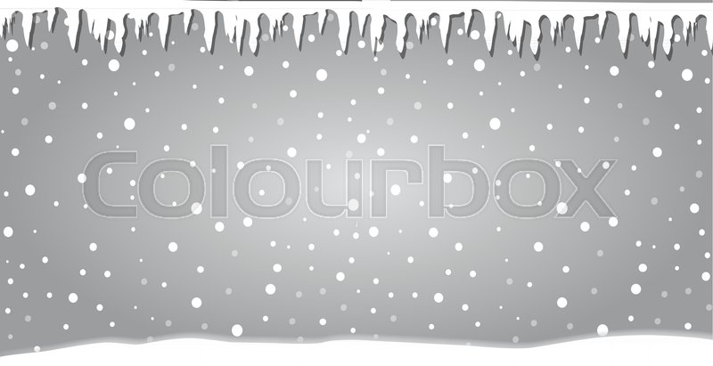 winter silver banner fallen snowflakes christmas or new year