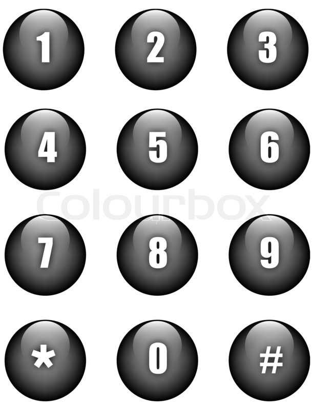 Aqua numbers black round buttons stock photo colourbox for Blueprint number