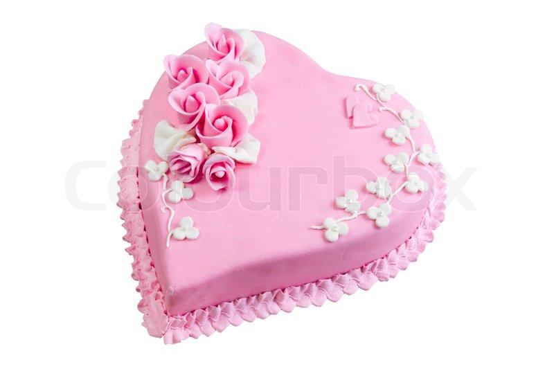 Rosa Kuchen Herzen Zum Valentinstag Stockfoto Colourbox