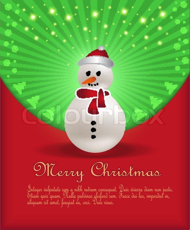 Weihnachten Glückwünsche Schneemann Lebkuchen vector | Vektorgrafik ...